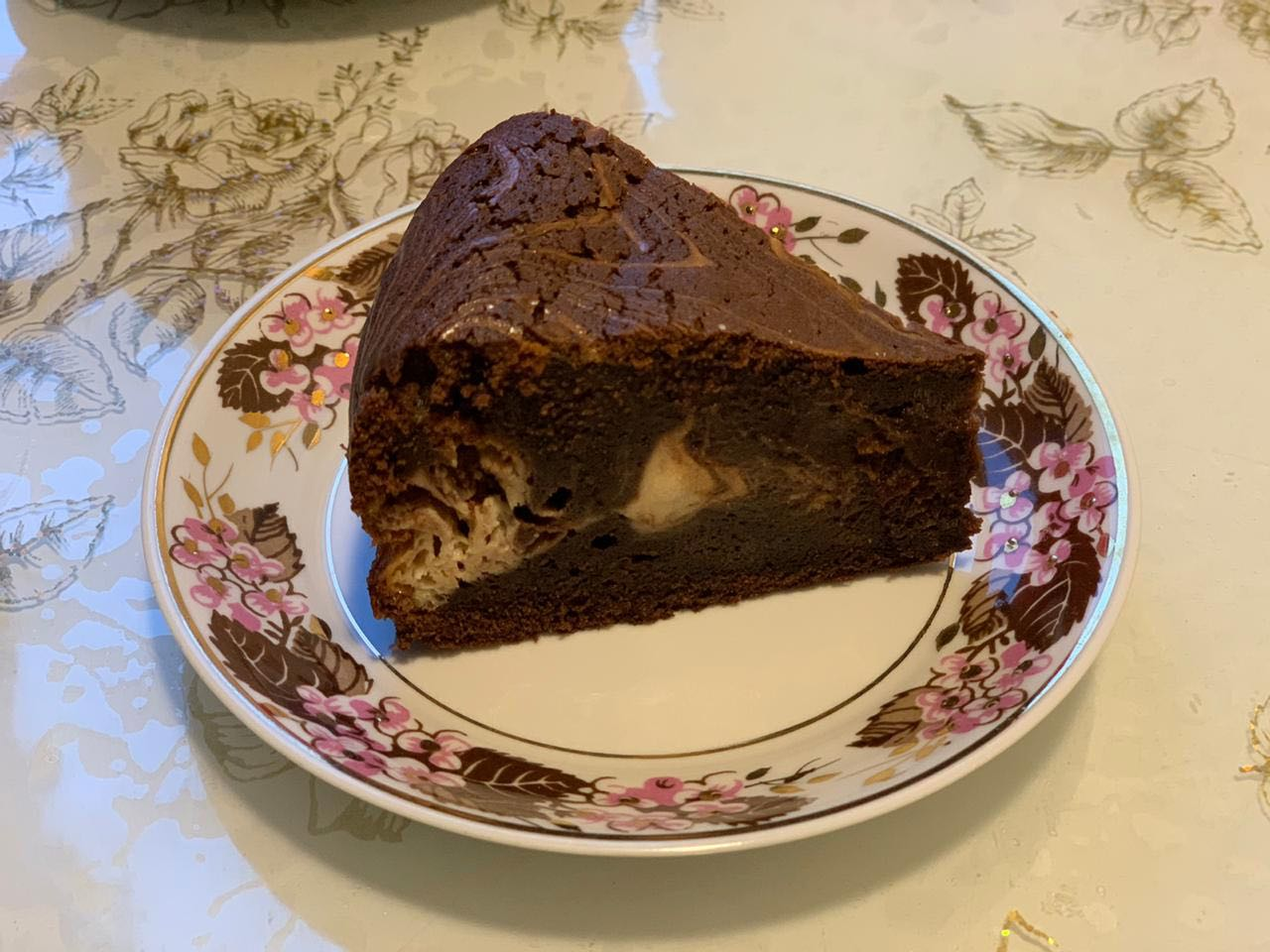 Шоколадный брауни с маскарпоне