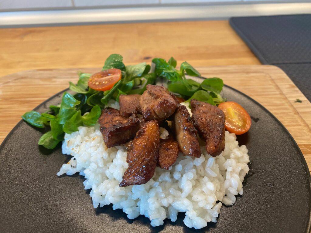 Курица терияки с рисом
