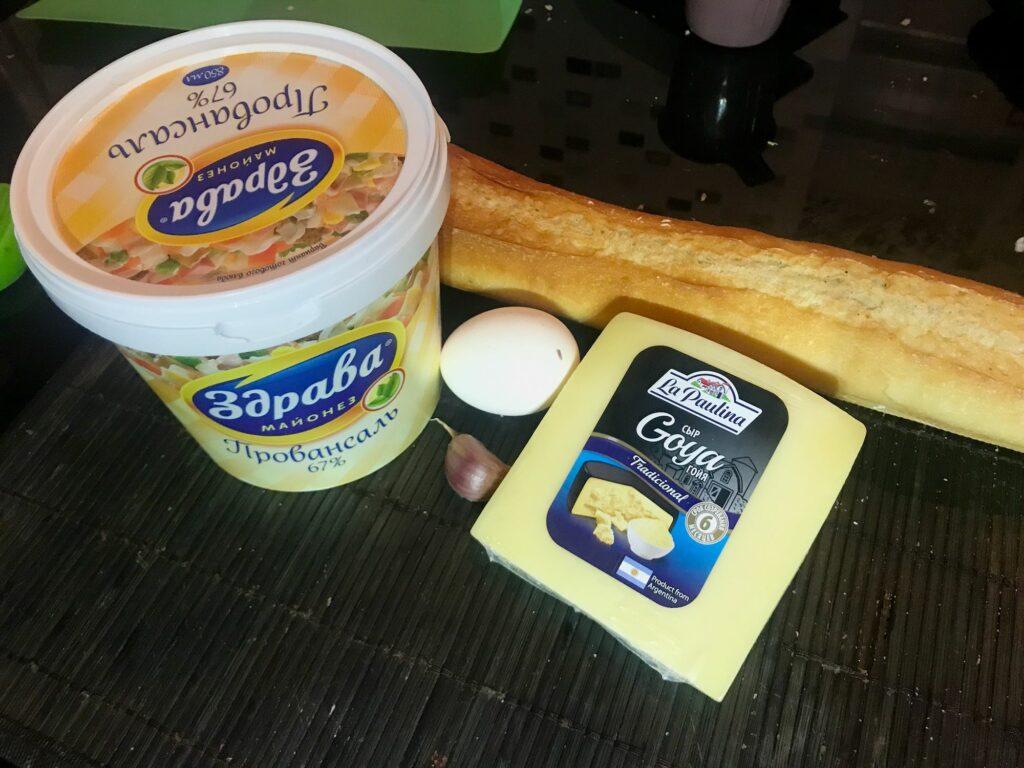 Бутерброды с сыром и чесноком