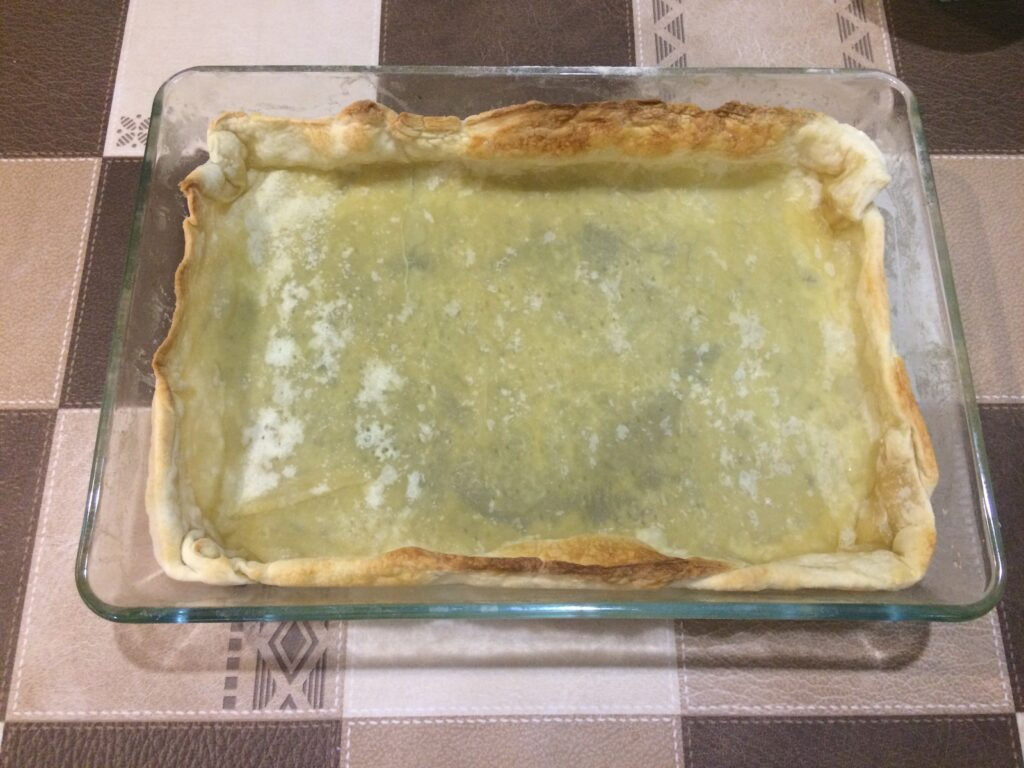 Грушевый пирог с творогом по-нормандски