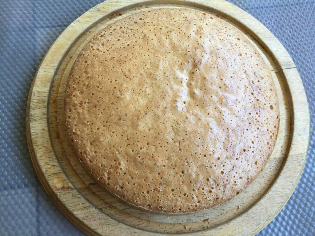 Торт бисквитный с бананом