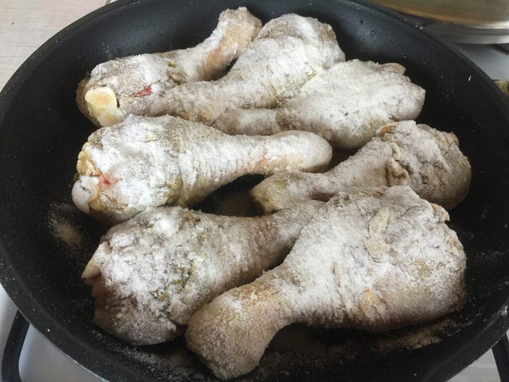 Голень куриная жареная