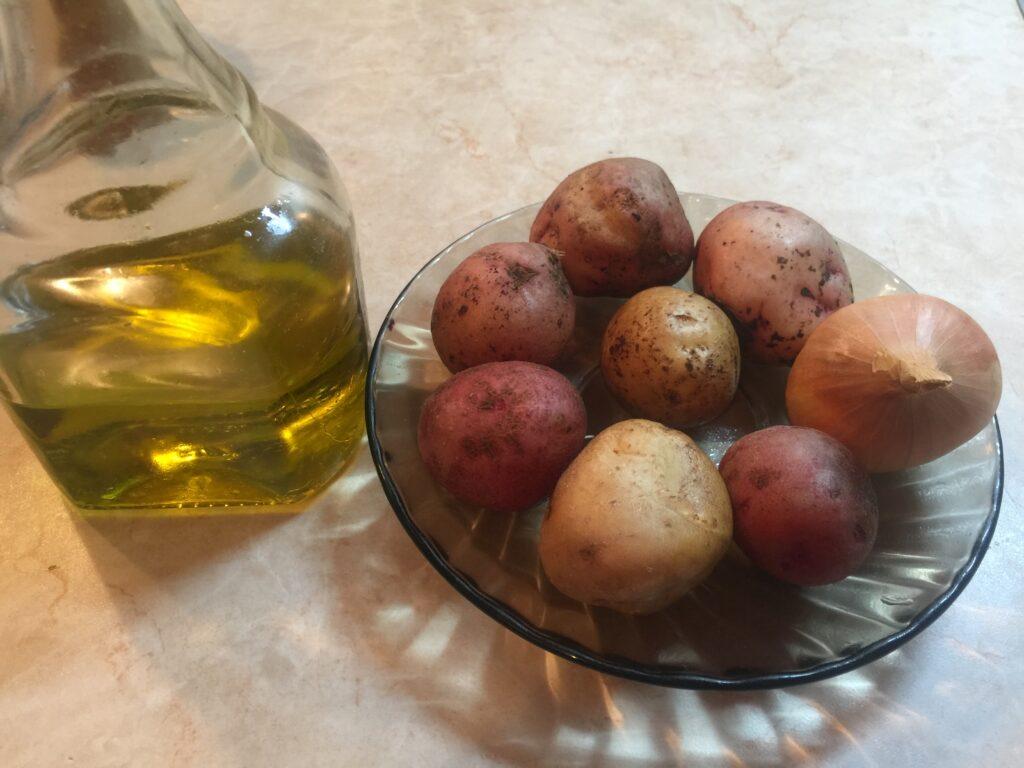 Салат-гарнир из картофеля