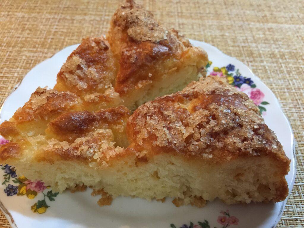 Пирог масляный с сахаром